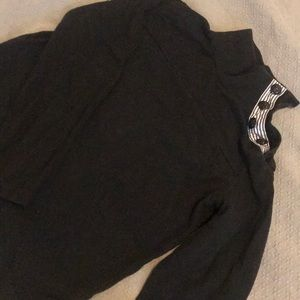 J-Crew Black Mock Turtle Neck
